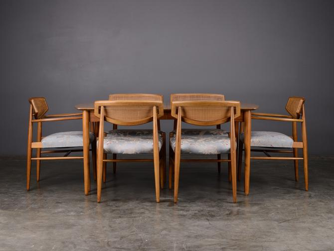 Mid Century Dining Set Table and 6 Chairs Morganton by MadsenModern