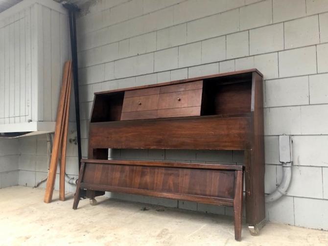 Midcentury 1960's Full Bedframe Set
