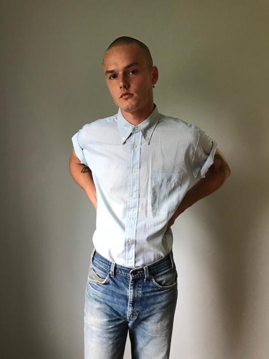 Vintage 60s Deadstock McGregor Blue Button Up Menswear by SpeakVintageDC