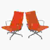 Pair of Vintage Eames for Herman Miller Aluminum Group Lounge Chairs