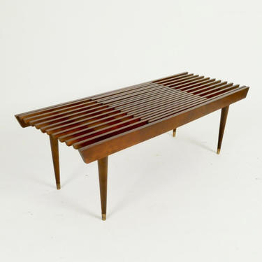 Expandable Slat Bench / Coffee Table