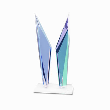 Acrylicore Lucite Sculpture Acrylic Abstract Sculpture Mid Century Modern by VintageInquisitor