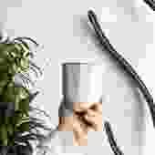 "3.75"" Pot/Planter-Geometric Sides in Neutral Glaze"