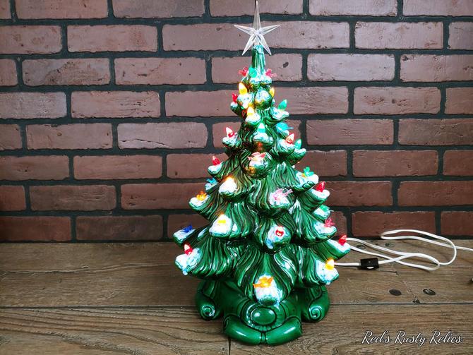 "Vintage 16"" Atlantic Mold Ceramic Christmas Tree by RedsRustyRelics"