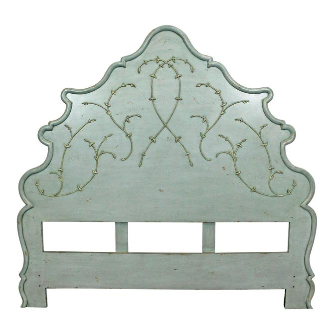 French Country Rustic Carved Queen Size Headboard by AnnexMarketplace