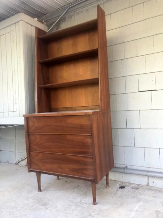 Mid Century Modern Bookshelf / Hutch Combo
