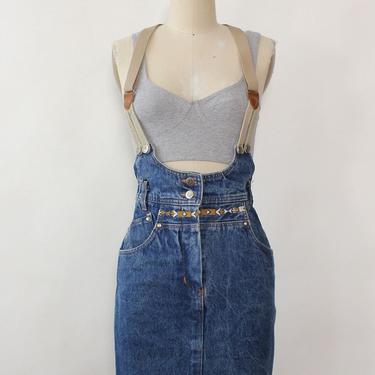 Jean Juniper Suspender Skirt XS
