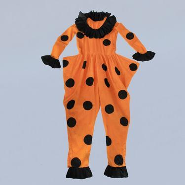 Antique Halloween Costume /1920s Clown Jumpsuit Onesie / Pierrot Pierrette by GuermantesVintage