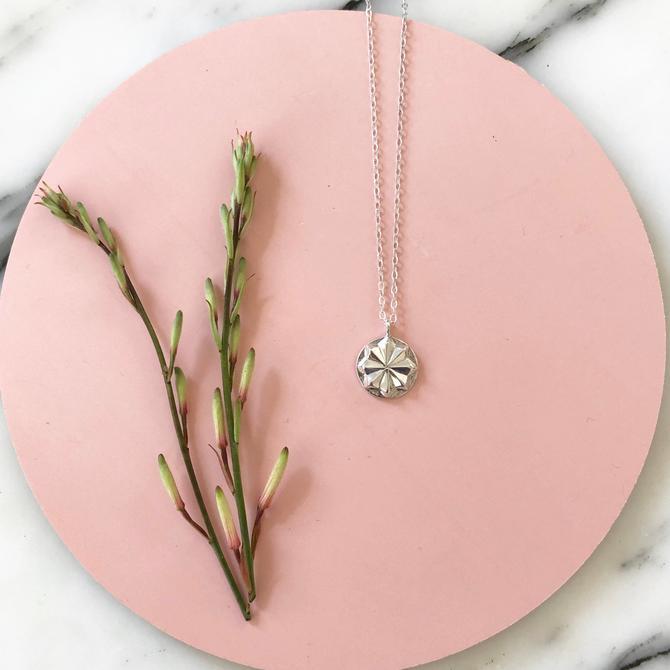 Sarah Cecelia Silver Circa Medallion Pendant - Necklace by SarahCecelia