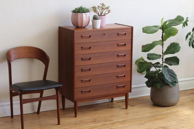 Mid Century Modern Danish Teak Highboy by SharkGravy