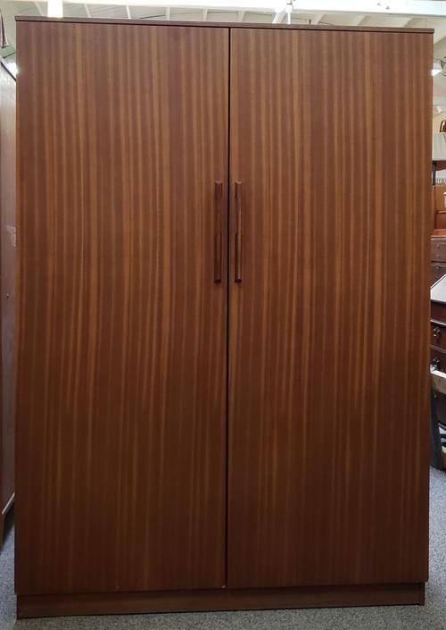 Item #MA18 Vintage Teak Double Door Armoire c.1960