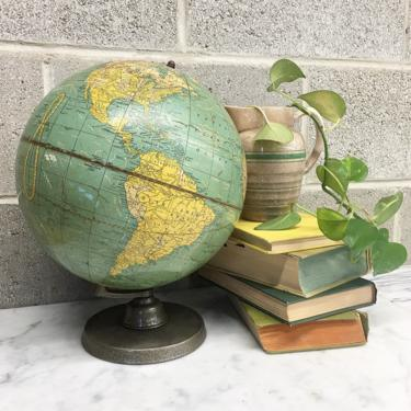 Vintage World Globe Retro 1940s Cram's + Universal Terrestrial Globe + 10.5 Inch Diameter + School and Learning + Home and Office Decor by RetrospectVintage215