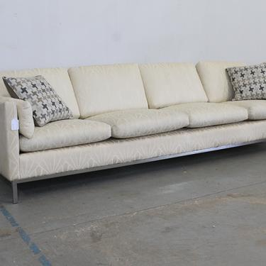 Mid-Century Modern Knoll Elongated 4 Seat Chrome Frame Sofa by AnnexMarketplace