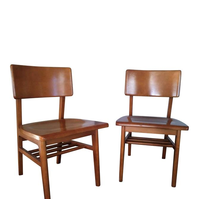 VINTAGE  Mid Century Modern Desk Chairs  Danish Style Made by GUNLOCKE// Shipping Included by 3GirlsAntiques