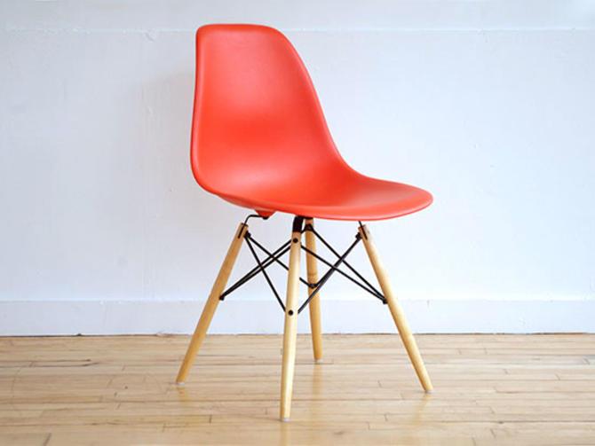 Herman Miller Orange Fiberglass Chair