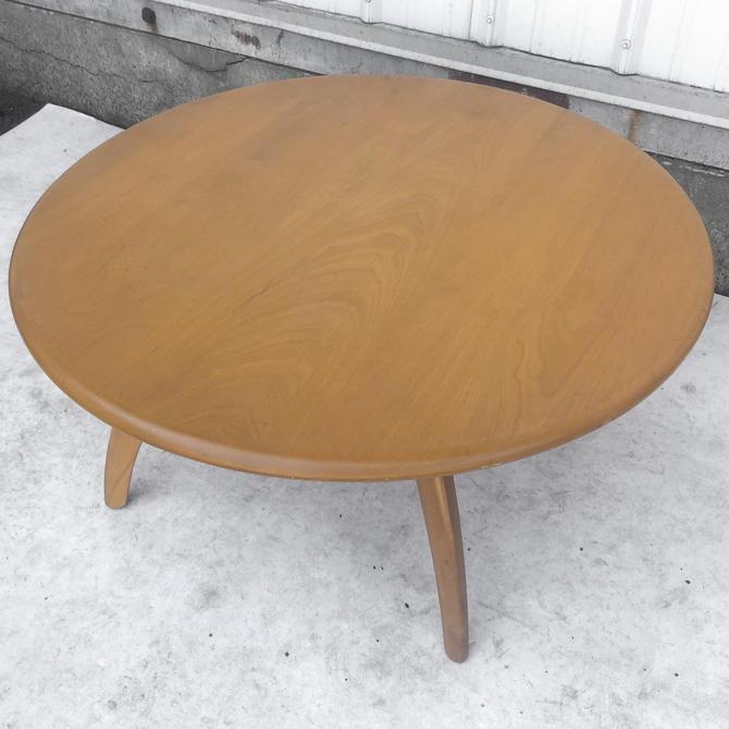 Vintage Lazy Susan Coffee Table by Heywood Wakefield by secondhandstory