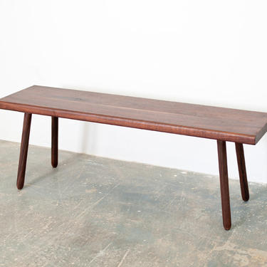 FREE SHIPPING Walnut Coffee Table - Hand turned legs w/Natural oil finish by OlivrStudio