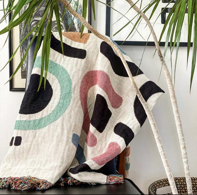 Black & Sketchy Woven Blanket No. 1