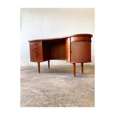 Kai Kristiensen Model 54 Kidney Shape Desk Danish Mid Century Modern by FlipAtik