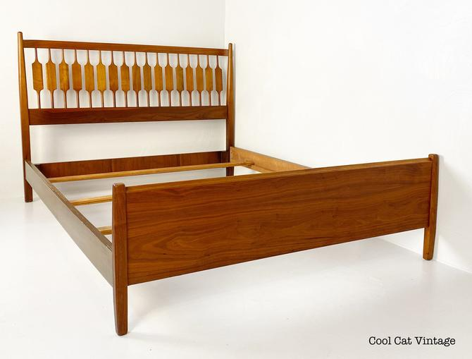 Drexel Declaration Walnut Full Size Bed Frame, Circa 1960s - Please ask for a shipping quote before you purchase. by CoolCatVintagePA