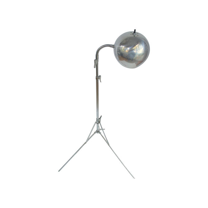 Vintage Industrial Chrome Ball Telescoping Tripod Floor Lamp by MetronomeVintage