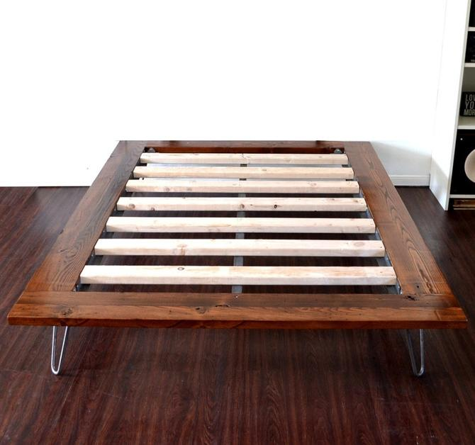 Platform Bed On Hairpin Legs King Size Solid Wood Minimal Design NEW LOWER PRICE by CasanovaHome