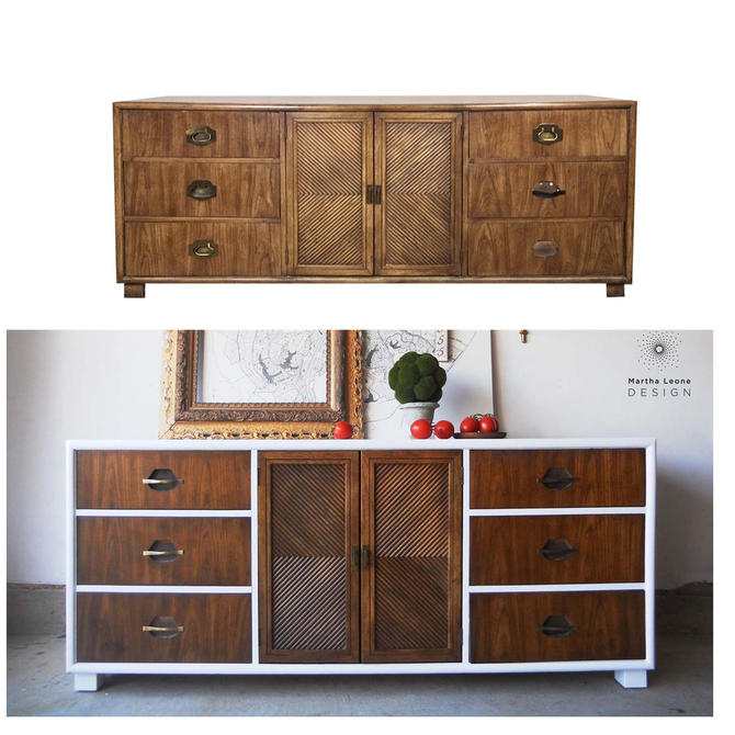 #464: Dixie Chevron Campaign Style Dresser