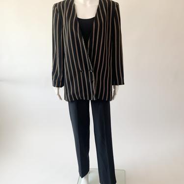 Black Striped Ungaro Blazer