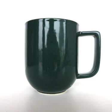 Single Sasaki Colorstone 12oz Mug In Hunter Green, Massimo Vignelli Post Modern Tall Coffee Cup by HerVintageCrush