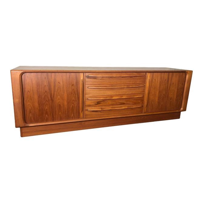 Mid Century Modern Danish Teak Dresser by Bernhard Pedersen Tambour Door by RetroPassion21
