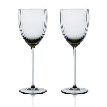 Gorman White Wine Set 2pc | Smoke Green