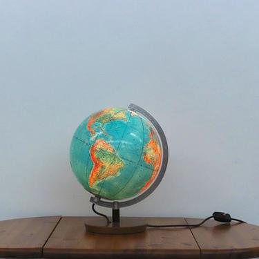 1960's Desktop Globe Light