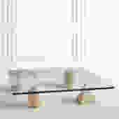Metafora Coffee Table in Traverting by Lella and Massimo Vignelli