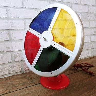 Revolving Motorized Color Wheel Tree Light by RedsRustyRelics