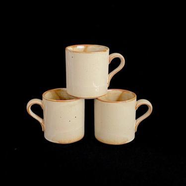 Vintage Mid Century Modern DANSK Earthenware Ceramic Porcelain Speckled Glaze Mug Cup NR Japan with LEAF Mark Neils Refsgaard Design by SwankyChaperooo
