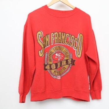 vintage 1990s SAN FRANCISCO 49ers faded raglan NFL football vintage sweatshirt -- size medium by CairoVintage
