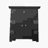 Black Lacquer Moonface End Table Nightstand Cabinet cs5357S