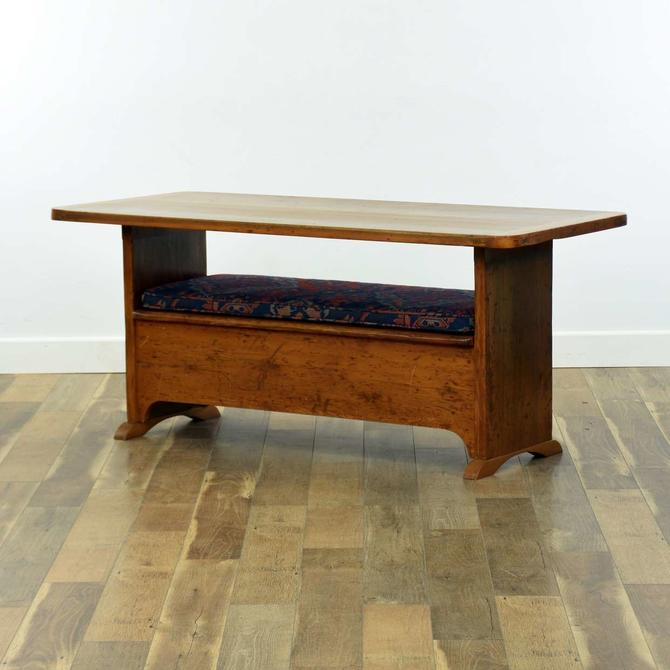 Antique Settler'S Convertible Dining Table/Bench