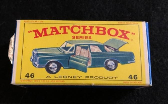 Matchbox 46 Mercedes 300 SE Coupe Vintage Original F Box Un-Used Circa 1970 NM LesneyEngland