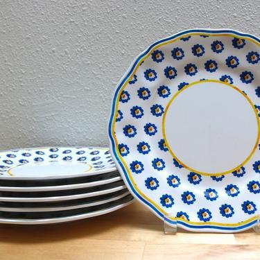 Le Cadeaux Rooster Melamine Salad Plate 6 available