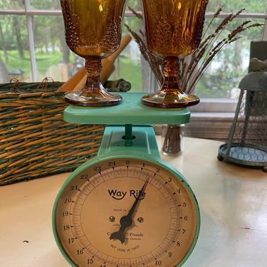 Indiana Glass Co. Carnival Glass Goblets Iridescent Marigold Amber Orange (set of 2)