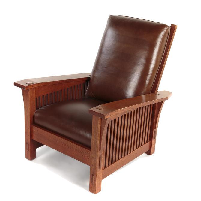 L & G Stickley Oak Morris Chair