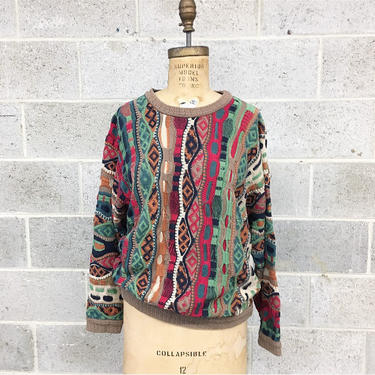 Vintage Coogi Sweater Retro 1980s + Unisex + Size M + Multi Color + Pattern + Long Sleeve + Crew Neck + Pullover + Made in Australia by RetrospectVintage215