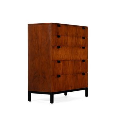 Milo Baughman for Directional Five Drawer Highboy Dresser in Walnut by ABTModern