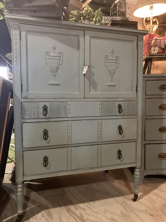 Turquoise Wardrobe/Chest of Drawers