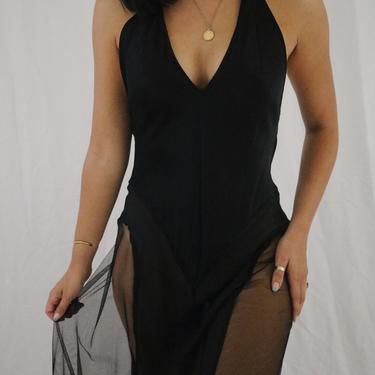 Vintage Black Victoria's Secret Silk Slip Dress - Small by LadyLVintageCo