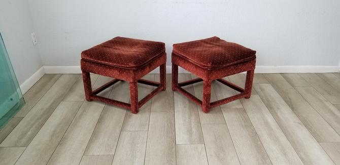 Mid-Century Milo Baughman for Thayer Coggin Parsons Ottomans - a Pair . by MIAMIVINTAGEDECOR