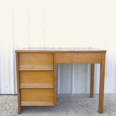 Mid Century Compact 4 Drawer Writing Desk