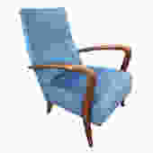 Italian Mid-Century Armchair in the Manner of Gio Ponti