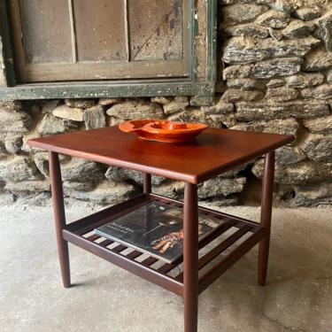 Mid century end table Danish modern side table mid century modern accent table by VintaDelphia
